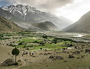 View over Garam Cheshma village (near Boroghil pass), Chitral.