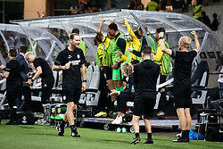 Bench of Vitesse rejoicing  during football match between NS Mura and Vitesse (NED) in 1st round of UEFA Europa Conference League 2021/22, on 16 of September, 2021 in Ljudski Vrt, Maribor, Slovenia. Photo by Blaž Weindorfer / Sportida
