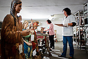 Belo Horizonte_MG, Brasil...Pecas sacras roubadas no estado de Minas Gerais estao guardadas na Superintendencia de Museus / Museu Mineiro, para identificacao e aguardando processo para serem devolvidas para a comunidade. Na foto, a conservadora vistoria as pecas...Sacred pieces stolen from the Minas Gerais state are in the Superintendency of Museums / Mineiro Museum for identification and waiting process to be returned to the community. In the photo, the restorer is looking the pieces...Foto: BRUNO MAGALHAES / NITRO