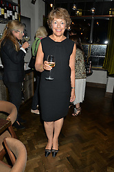 FLORA FRASER at a dinner hosted by Lucy Yeomans and Amanada Foreman to celebrate the launch of the film Georgiana, Duchess of Devonshire held at sackville's, Sackville Street, London on 7th September 2015.