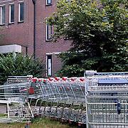 Winkelwagens in de Eeshof