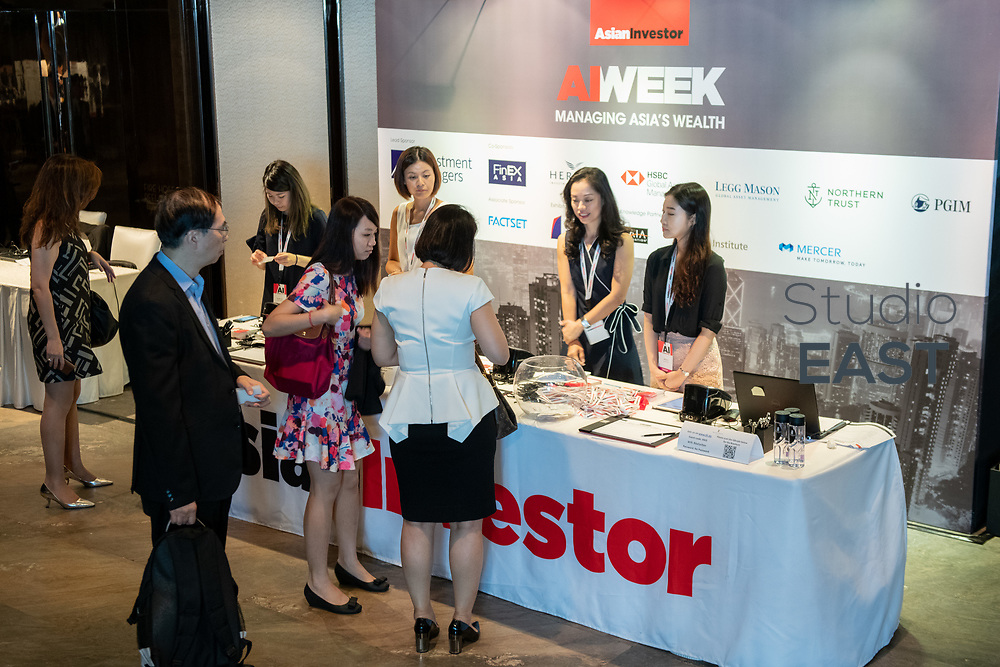 Set-up and Registration during the 13th Asian Investment Summit at The Ritz-Carlton Hotel, in Hong Kong, China, on 30 May 2018. Photo by Lucas Schifres/Studio EAST