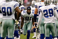 15 Sept 2008: Dallas Cowboys wide receiver Terrell Owens #81 greets his teammates as he enters the field before the game against the Dallas Cowboys on September 15th, 2008. The Cowboys beat the Eagles 41-37 at Texas Stadium in Irving, Texas.