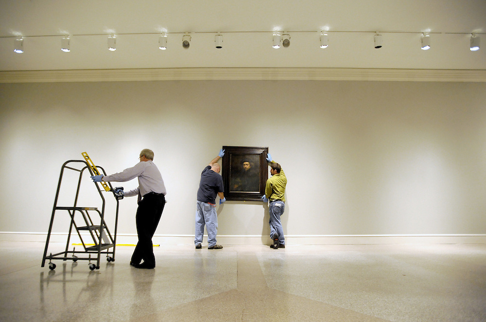 Rembrandt's iconic Self Portrait from 1659 is installed as part of  a new exhibition, entitled Rembrandt's People, at the Wadsworth Atheneum Museum of Art in Hartford, Conn.