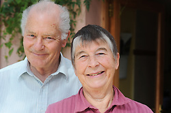 Portrait of a retired couple, Cumbria.  MODEL RELEASED