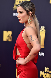 Halsey attends the 2018 MTV Movie And TV Awards at Barker Hangar on June 16, 2018 in Santa Monica, California. Photo by Lionel Hahn/ABACAPRESS.COM