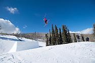 Julia Krass during Women's Ski Slopestyle Practice during 2015 X Games Aspen at Buttermilk Mountain in Aspen, CO. ©Brett Wilhelm/ESPN