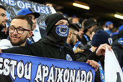 March 6, 2018 - Liverpool, U.S. - 6th March 2018, Anfield, Liverpool, England; UEFA Champions League football, round of 16, 2nd leg, Liverpool versus FC Porto; Porto fans cheer on their side (Photo by Dave Blunsden/Actionplus/Icon Sportswire) ****NO AGENTS---NORTH AND SOUTH AMERICA SALES ONLY****NO AGENTS---NORTH AND SOUTH AMERICA SALES ONLY* (Credit Image: © Dave Blunsden/Icon SMI via ZUMA Press)