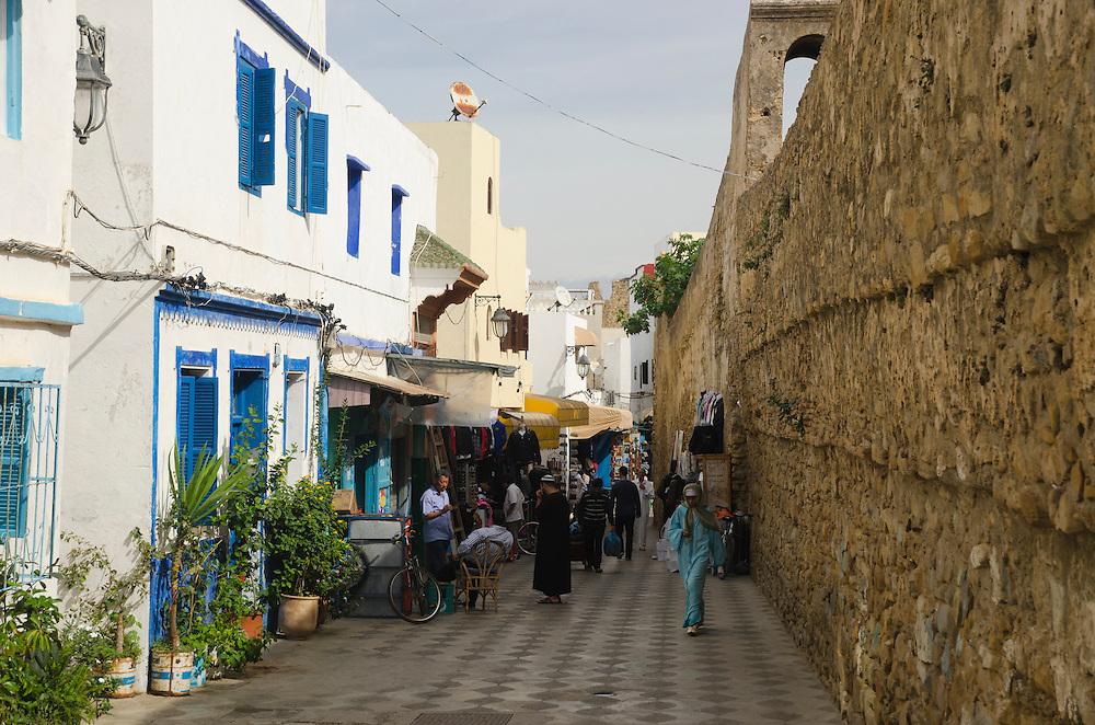 People in Asilah's medina, North Morocco