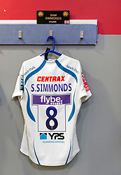 A general view of the matchday jersey of Sam Simmonds of Exeter Chiefs in the away changing rooms - Mandatory byline: Patrick Khachfe/JMP - 07966 386802 - 29/02/2020 - RUGBY UNION - The Twickenham Stoop - London, England - Harlequins v Exeter Chiefs - Gallagher Premiership