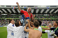 FOOTBALL - UEFA EURO 2010 UNDER 19 - FINAL - FRANCE  v SPAIN  - 30/07/2010  - PHOTO JEAN MARIE HERVIO / DPPI - FRANCIS SMERECKI (COACH FRANCE)
