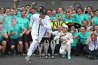 ROSBERG nico (ger) mercedes gp mgp w06 ambiance portrait<br /> HAMILTON lewis (gbr) mercedes gp mgp w06 ambiance portrait MERCEDES f1 team ambiance -  during the 2015 Formula One World Championship, Mexico Grand Prix from october 29nd to November 1st 2015 in Mexico, Mex. Photo DPPI