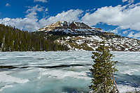 Beartooth Lake was still frozen in early June.
