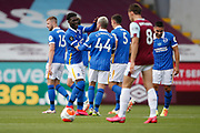 0-1, goal celebration by Brighton and Hove Albion midfielder Yves Bissouma (8) during the Premier League match between Burnley and Brighton and Hove Albion at Turf Moor, Burnley, England on 26 July 2020.