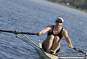 Hazewinkel, BELGIUM, Women's Single Scull, Annie VERNON moves away from  the  start pontoon in the Sunday, semi final, during the GB Rowing Senior Trials, on Sun,15.04.2007  [Credit, Peter Spurrier/Intersport-images]   [Mandatory Credit, Peter Spurier/ Intersport Images]. , Rowing Course, Bloso, Hazewinkel. BELGUIM