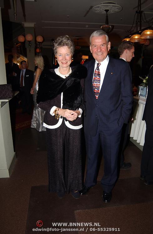 Kerstborrel Princess 2004, Jaap Rost Onnes en partner Mary