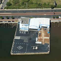 Aerial view of  Philadelphia heliport at Penns Landing, Pennsylvania