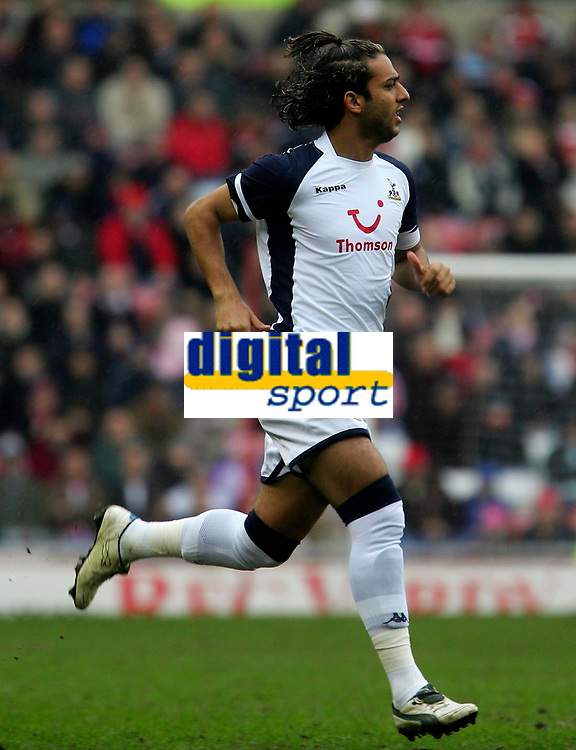 Photo: Andrew Unwin.<br /> Sunderland v Tottenham Hotspur. The Barclays Premiership. 12/02/2006.<br /> Tottenham's Mido returns to action for his club.