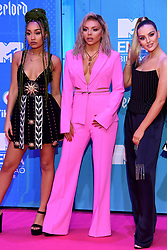 Leigh-Anne Pinnock, Jesy Nelson and Perrie Edwards of Little Mix attending the MTV Europe Music Awards 2018 held at the Bilbao Exhibition Centre, Spain