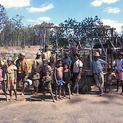 Madagascar-People, A village of people.