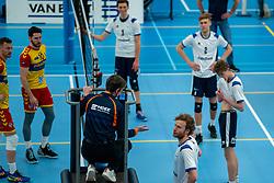 Bart Yark of Sliedrecht Sport in action during the semi cupfinal between Sliedrecht Sport vs. Draisma Dynamo on April 03, 2021 in sports hall De Basis, Sliedrecht