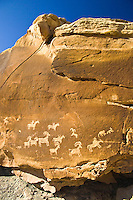 Petroglyphs at the Wolfe Ranch, Arches National Park, Utah