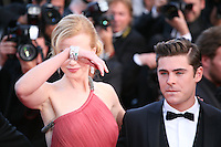 Nicole Kidman and Zac Efron at The Paperboy gala screening red carpet at the 65th Cannes Film Festival France. Thursday 24th May 2012 in Cannes Film Festival, France.