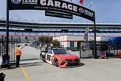 November 2, 2018 - Fort Worth, TX, U.S. - FORT WORTH, TX - NOVEMBER 02: Monster Energy NASCAR Cup Series driver Parker Kligerman (96) drives through the garage area during practice for the AAA Texas 500 on November 02, 2018 at the Texas Motor Speedway in Fort Worth, Texas. (Photo by Matthew Pearce/Icon Sportswire) (Credit Image: © Matthew Pearce/Icon SMI via ZUMA Press)