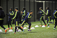 Swansea's Leon Britton © during Swansea city FC team training in Landore, Swansea, South Wales on Wed 19th Feb 2014. the team are training ahead of tomorrow's UEFA Europa league match against Napoli.<br /> pic by Phil Rees, Andrew Orchard sports photography.