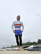 Eton, United Kingdom. Men's K1. Edd COX, 2012 GB Canoeing Training, Dorney Lake. Wednesday  02/05/2012  [Mandatory Credit; Peter Spurrier/Intersport-images]