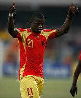 Photo: Steve Bond/Richard Lane Photography.<br />Guinea v Morocco. Africa Cup of Nations. 24/01/2008. Daouda Jabi of Guinea and Trabzonspor celebrates