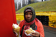 Belgium, Sunday 13th December 2015: Hot dog with frites and mayonnaise is popular at the Hansgrohe Superprestige cyclocross races at Spa Francorchamps.<br /> <br /> Copyright 2015 Peter Horrell