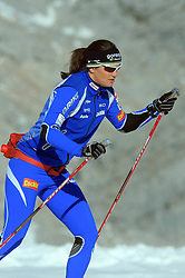 Katja Visnar at practice of Slovenian Cross country National team before new season 2008/2009, on October 22, 2008, glacier Dachstein, Ramsau, Austria. (Photo by Vid Ponikvar / Sportida).