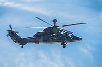 16 MAY 2014, BERLIN/GERMANY:<br /> Unterstuetzungshubschrauber Tiger der Bundeswehr, Internationale Luftfahrt Ausstellung, ILA, Flughafen Schoenefeld<br /> IMAGE: 20140516-01-007<br /> KEYWORDS: Hubschrauber, Kampfhubschrauber