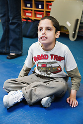 Disabled child relaxing,