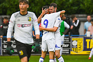 Leeds United Ryan Edmondson (14) scores a goal and celebrates to make the score 1-4 during the Pre-Season Friendly match between Tadcaster Albion and Leeds United at i2i Stadium, Tadcaster, United Kingdom on 17 July 2019.