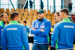 Blaž Blagotinšek and Tilen Kodrin during meeting after COVID-19 of Slovenian handball national team at dvorana Kodeljevo on May 26th 2020, Ljubljana, Slovenia. Photo by Sinisa Kanizaj / Sportida