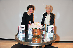 Left to right, HOLLY PEPPE and EVE BRANSON at a party to celebrate the publication of Mum's The Word by Eve Branson held at Grace, West Halkin Street, London on 11th March 2013.