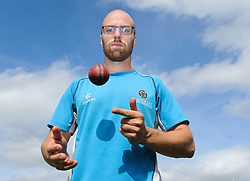 Somerset spinner Jack Leach poses for a photo - Mandatory byline: Alex Davidson/JMP - 07966386802 - 22/08/2015 - Cricket - County Ground -Taunton,England - Somerset CCC v Worcestershire CCC - LV= County Championship Division One - Day 3