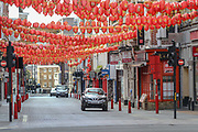 Ghostly China Town is seen nearly empty in London as the country continues in lockdown to curb the spread of coronavirus pandemic outbreak, Monday, May 4, 2020. The disease has been detected in at least 187 countries and territories, with Italy, Iran, Spain and the US lately experiencing the most widespread outbreaks outside of China. In the UK, there have been 186,599 confirmed cases and 28,446 deaths until the 3rd of May. (Photo/ Vudi Xhymshiti)