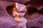 Color rainbows in Antelope Canyon, Arizona.