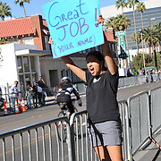 """Great job!"" sign salutes El Tour de Tucson 2014 finishers. Bike-tography by Martha Retallick."