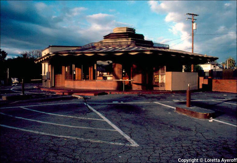 Delores' Drive In, Los Angeles, CA: A large portfolio of CA Ruins was published in California Magazine, 1982. This is the director's cut.