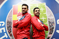 Getafe CF's players Jorge Molina (l) and Angel Rodriguez during interview. March 14, 2018. (ALTERPHOTOS/Acero)