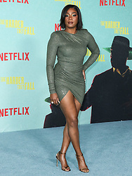 Actress Tiffany Haddish wearing an Alexandre Vauthier dress arrives at the Los Angeles Premiere Of Netflix's 'The Harder They Fall' held at the Shrine Auditorium and Expo Hall on October 13, 2021 in Los Angeles, California, United States. Photo by Xavier Collin/Image Press Agency/ABACAPRESS.COM