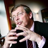 Nederland,Elsloo ,16 maart 2007..Joost Govaarts, directeur van Nedcar in Born tijdens de lunch in Hotel restaurant Kasteel Elsloo.