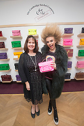 R&B singer Tallia Storm with The Cambridge Satchel Company founder Julie Deane, at the store in Edinburgh.