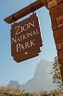 Zion National Park, entrance to Visitor Center, Utah