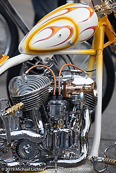 Michael McElwee's Bad Luxury custom 1942 Indian Chief at the Stampede pre-Born Free gathering and races in the City of Industry, CA, USA. Thursday, June 20, 2019. Photography ©2019 Michael Lichter.