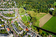 Nederland, Gelderland, Arnhem, 30-09-2015; Sonsbeek Park en Zijpendaalseweg. Rechts Stadsvilla Sonsbeek (Witte Villa of Huis Sonsbeek).<br /> Town villa and estate, now city park Arnhem.<br /> luchtfoto (toeslag op standard tarieven);<br /> aerial photo (additional fee required);<br /> copyright foto/photo Siebe Swart